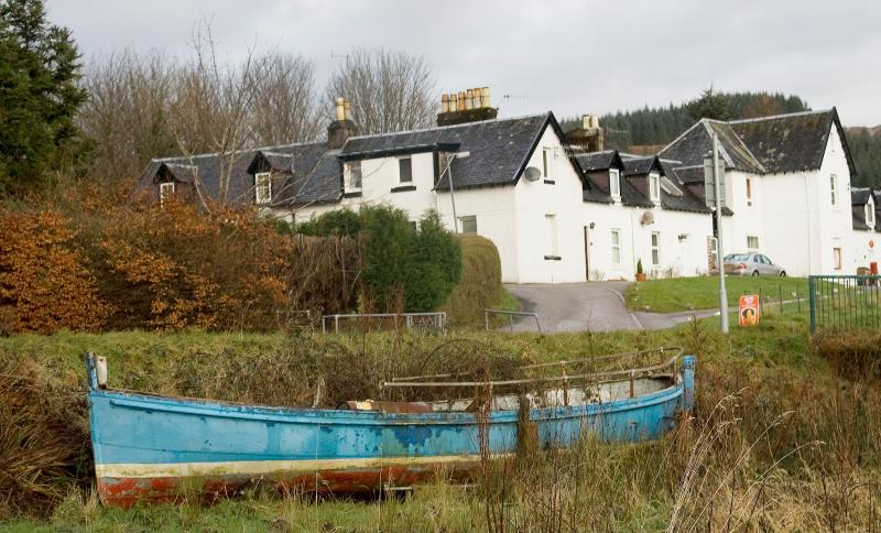View back from the Loch side