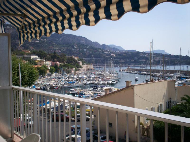 La Darse harbour from the balcony
