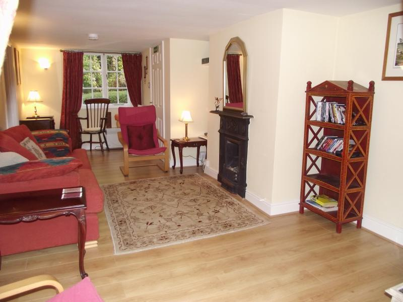 Our very cosy living room at Avalon Cottage Glastonbury