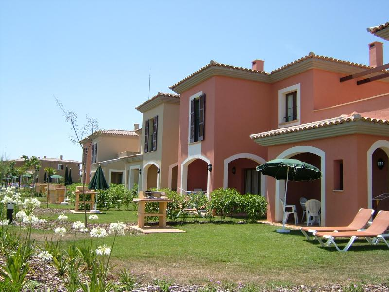 The terrace of villas are surrounded by beautifully kept gardens