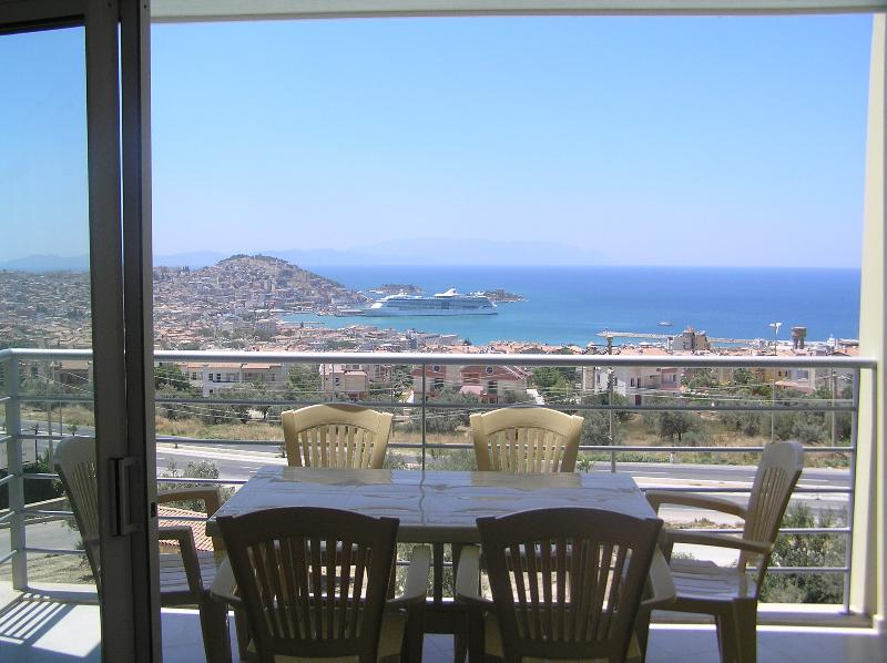 View from the Balcony where you can enjoy the amazing views of Kusadasi.