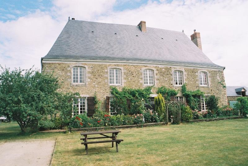 Front of House with boules pitch to the side of the house