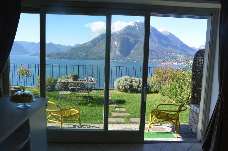 Breathtaking mountain and lake views from private garden