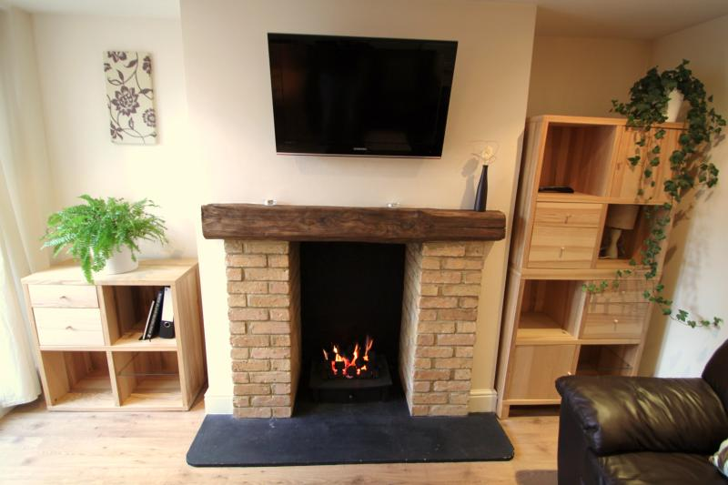 Cosy gas fireplace & TV with FreeView