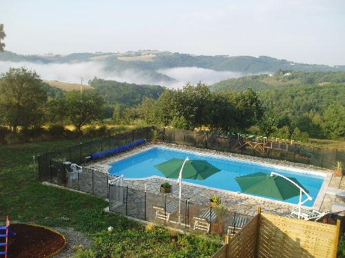 Large 12x6m pool with fantastic views