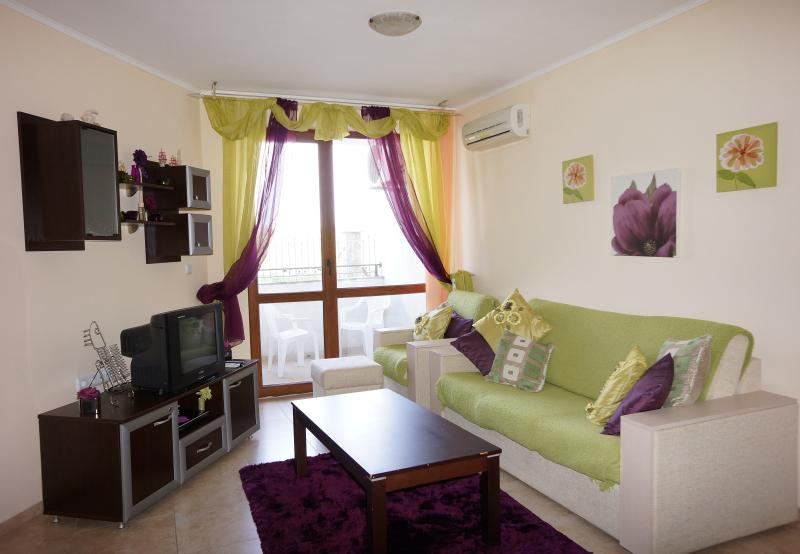A bright, airy Lounge with Aircon/ Satellite TV