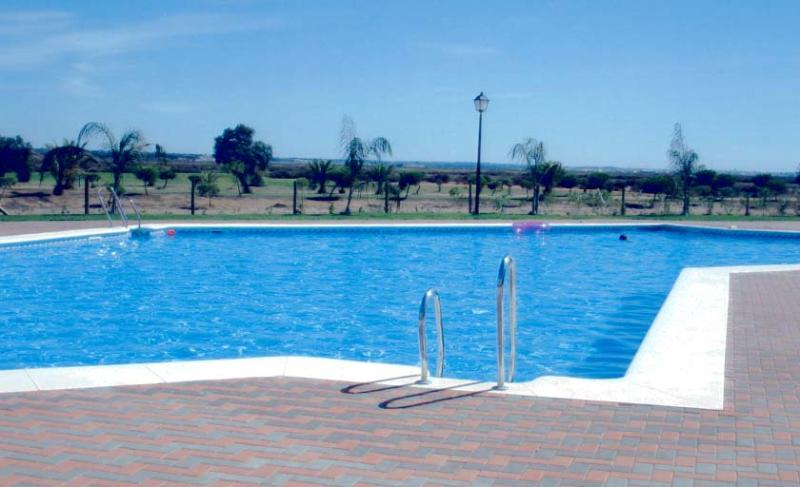 The pool area at the rear of Prado Golf
