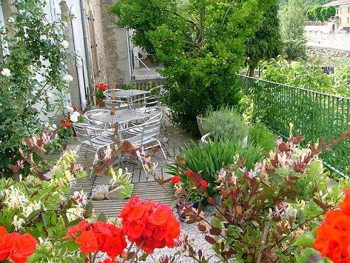 Terrace in Couiza, South France