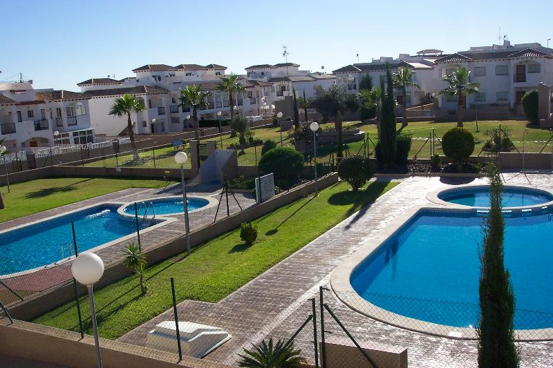 Balcony - Winter Sun - South Facing - Garden, Pools, Sea Views - Panoramic Views from Roof Terrace