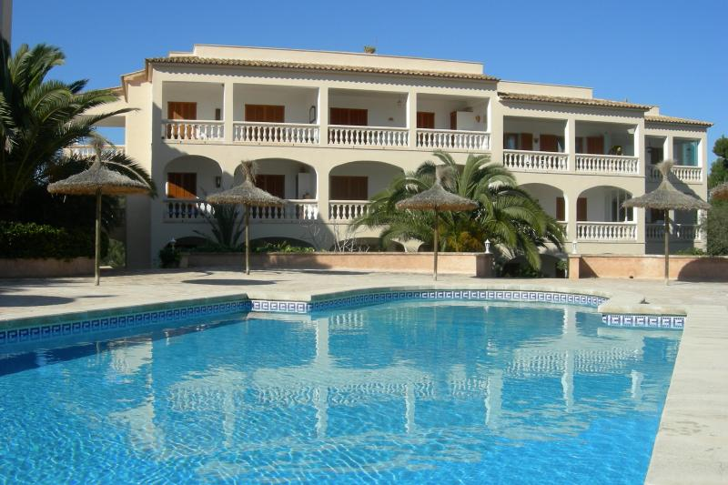 Large sunny peaceful pool and surrounds
