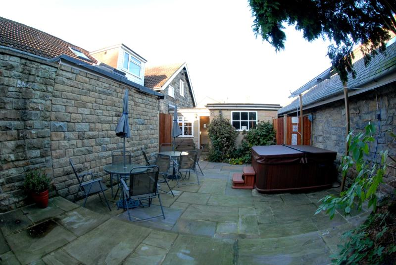 Rear of Property with Hot Tub