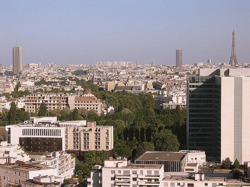 Paris as seen from the apartment