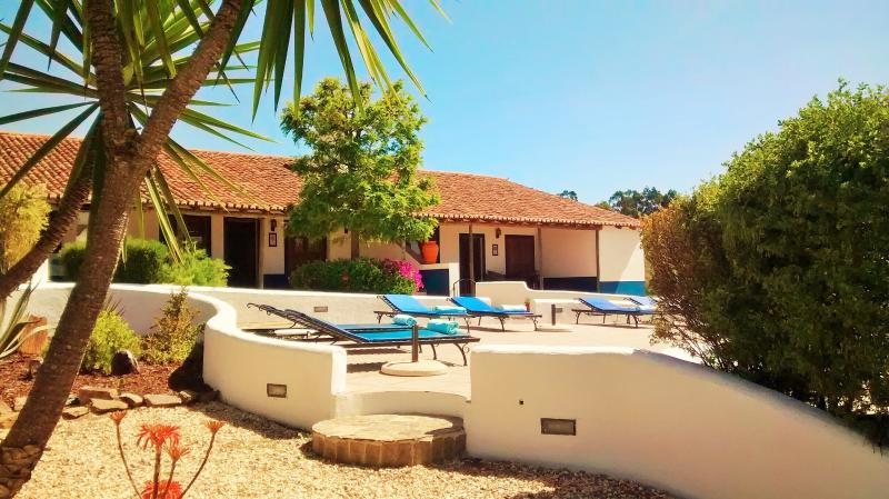 Traditional architecture with modern facilities, large pool and sun terrace.