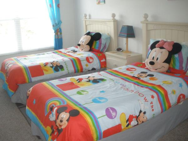Set the theme for your holiday with our Disney themed room with twin beds