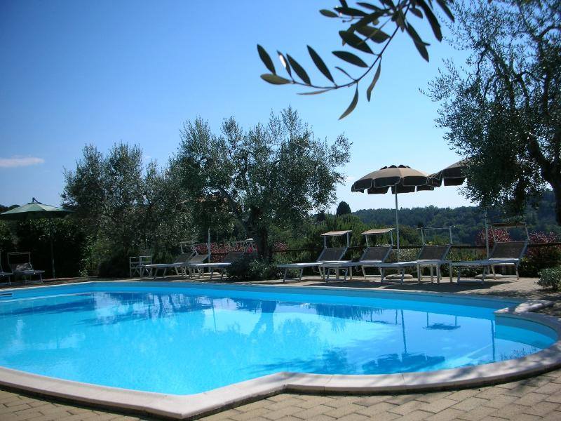 large swimming-pool with  stunning views