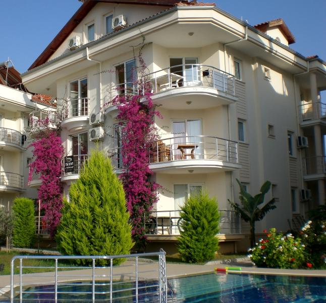 Apartment from the pool area