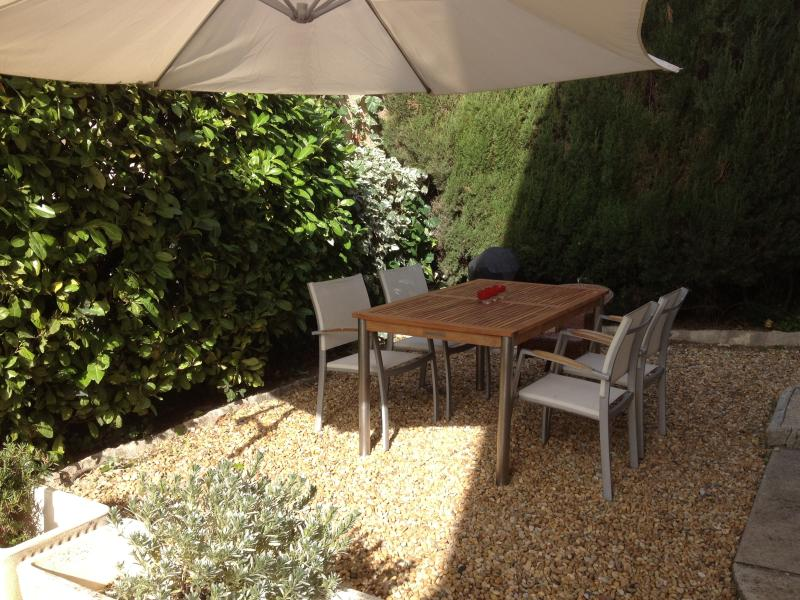 Private garden perfect for dining and relaxing anytime