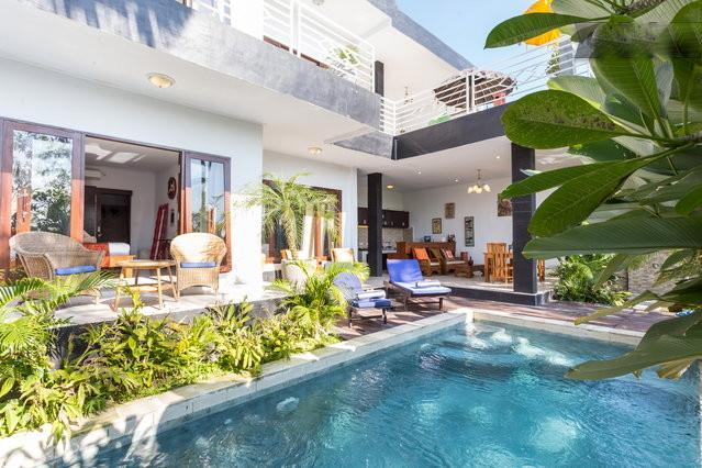 2 bedrooms with swimming pool view & 2 bedrooms with rice fields view