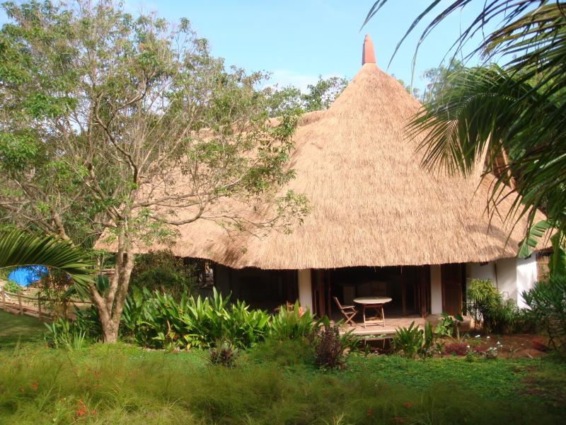Ala Ala Villa's spectacular cogon grass roof blends perfectly with the environment.
