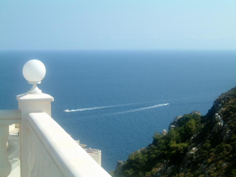 Fantastic sea views from  pool and terraces, you can see and hear the boats going by !