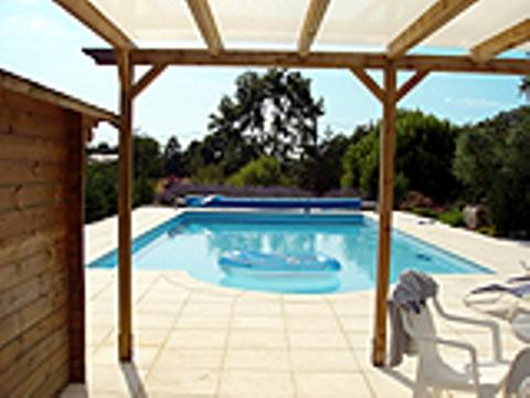 The fabulous 12 x 6 Heated Salt Water Swimming Pool with Cabin for Changing plus a Toilet and fridge