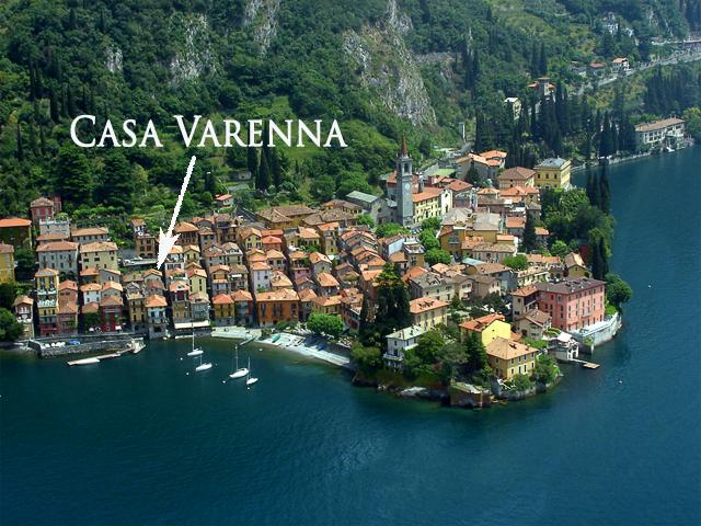 Aerial View showing the fantastic location of Casa Varenna