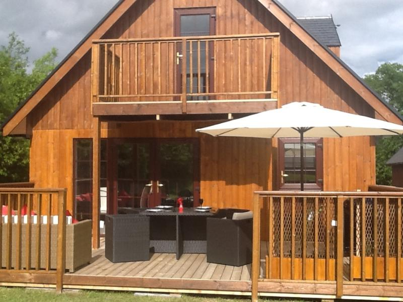 outside terrace and decking area wit beautiful garden furniture. Ideal for entertaining guests