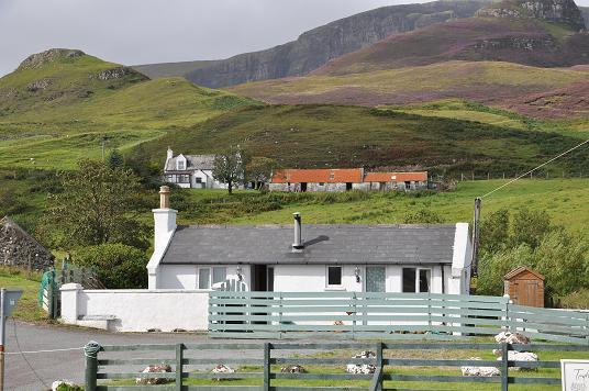 Bothy with the Quiraing behind