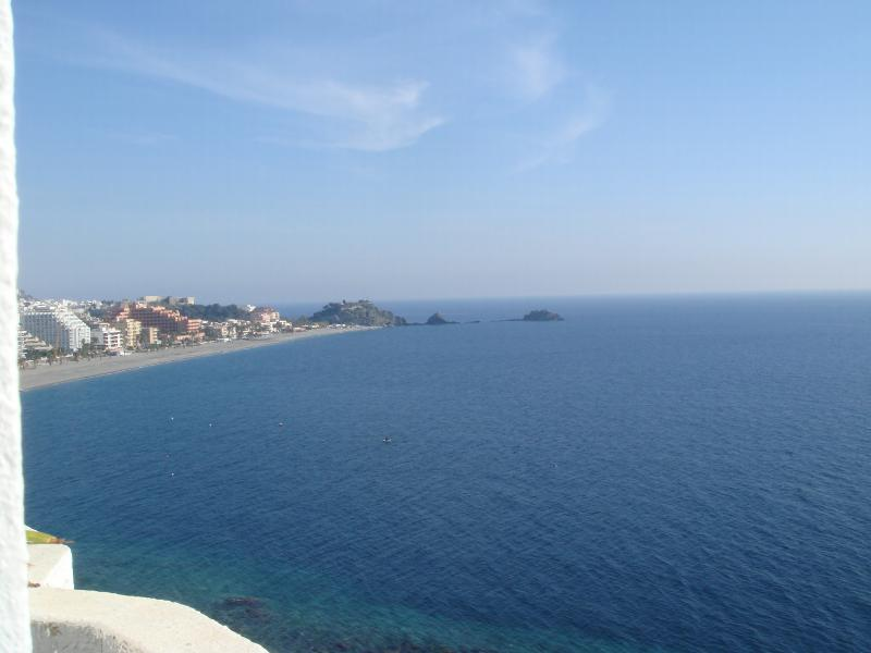 view from terrace towards Almunecar