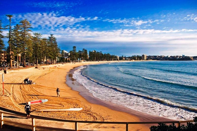 Manly Beach location shot