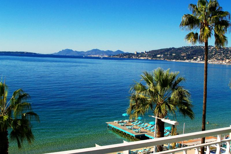 View from the main balcony, bay of Cannes