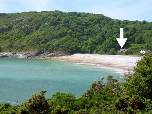 Location of house in Pwll du Bay