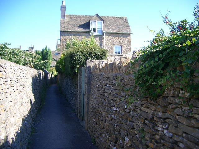 The cottage is located down an old sheep alley