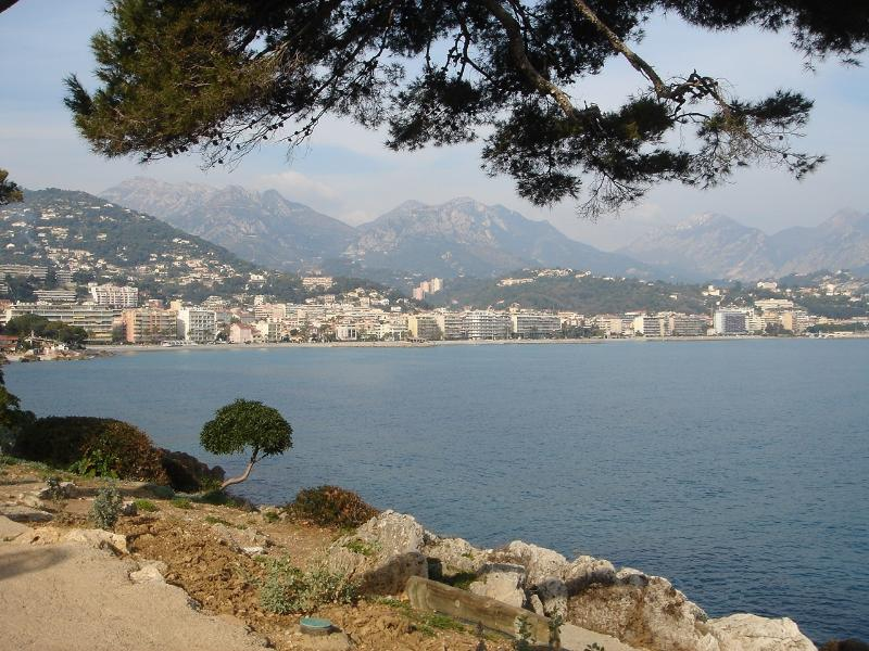 Looking from Cap Martin towards the flat