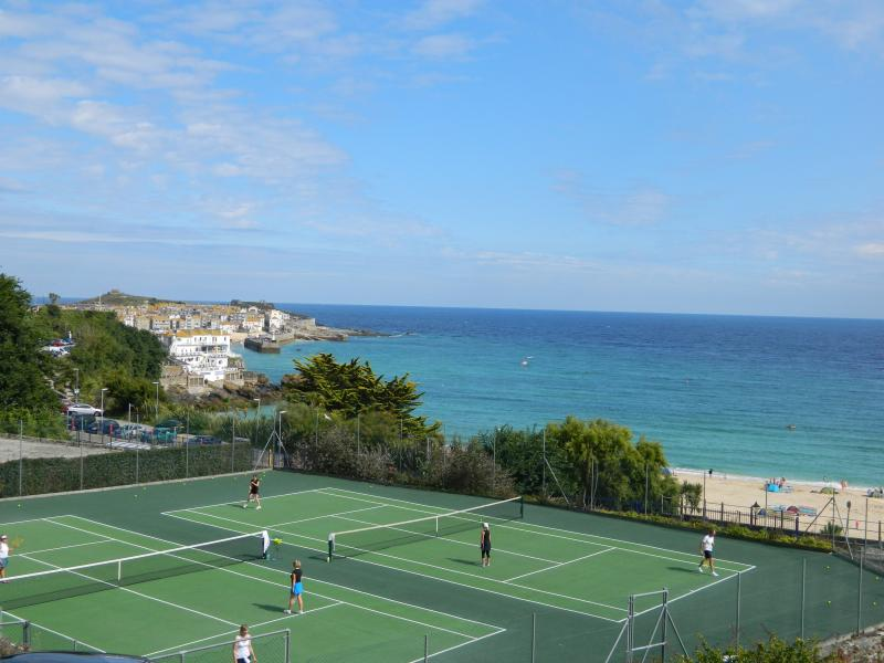 Tennis courts to hire opposite the apartments