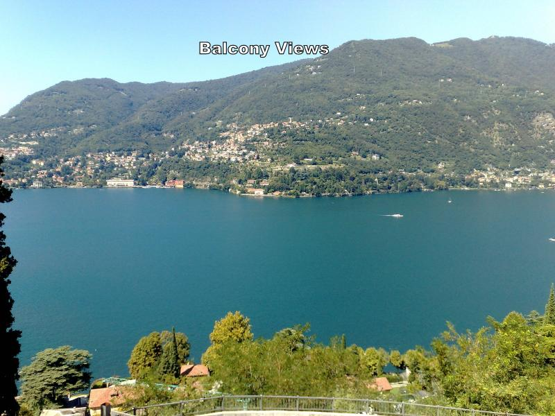 lake Como view from balcony