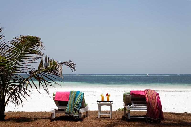 Relax and unwind on gorgeous and unspoiled Galu Beach, Diani