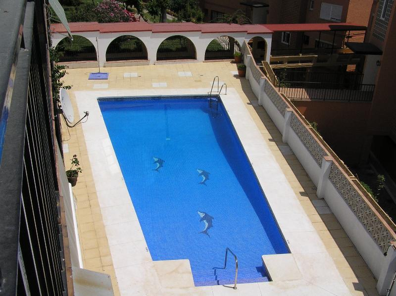 View of pool from the apartment