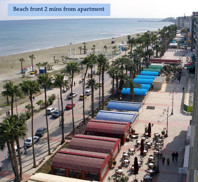 Finikoudes Promenade and Blue Flag Beach only 50 metres from the apartment