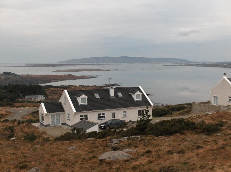 April view over Dungloe Bay and Arranmore Island from cottage