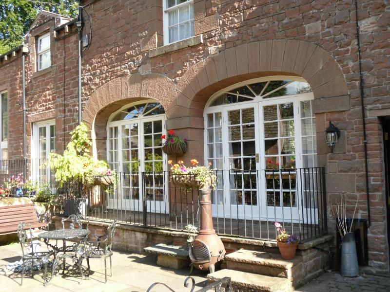 Front  of Coach House and Patio