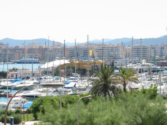 The view taken from the Terrace into the Marina