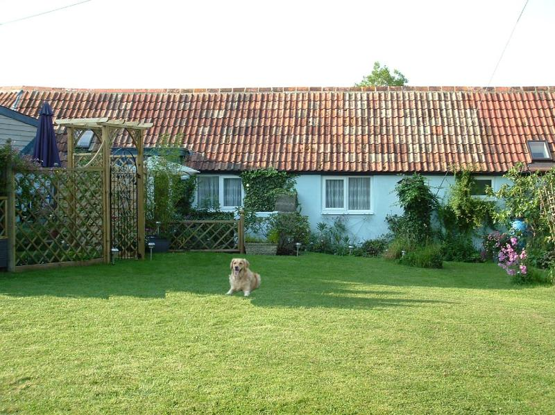 View of cottage from garden