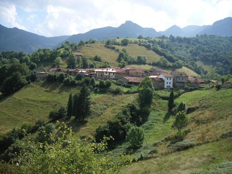 The village La Focella in Asturias