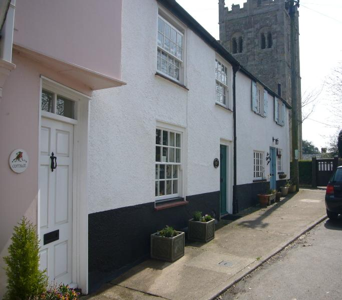 Cherry Tree Cottage is next but one to the Village Church