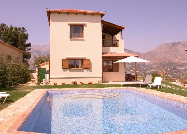Villa Kalithea and its private swimming pool