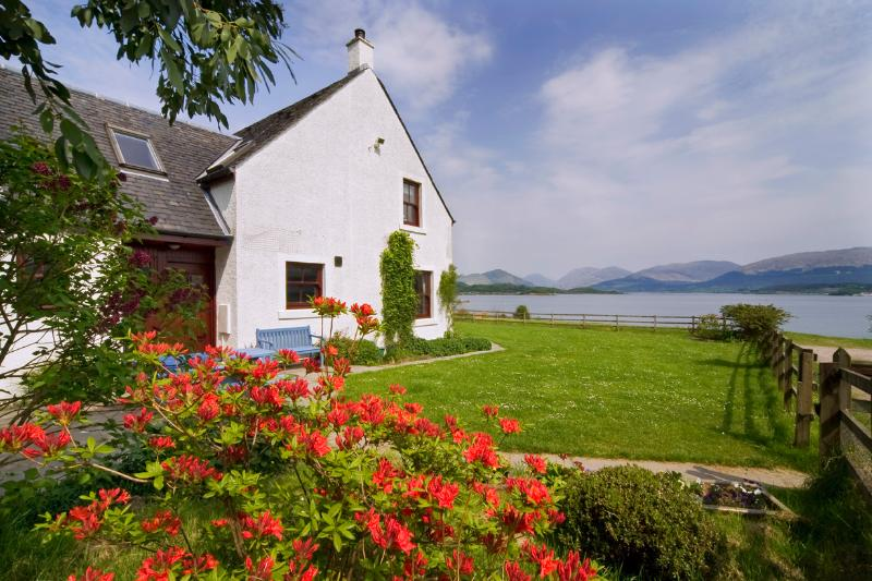 Seabank Farmhouse with  view over Loch Creran