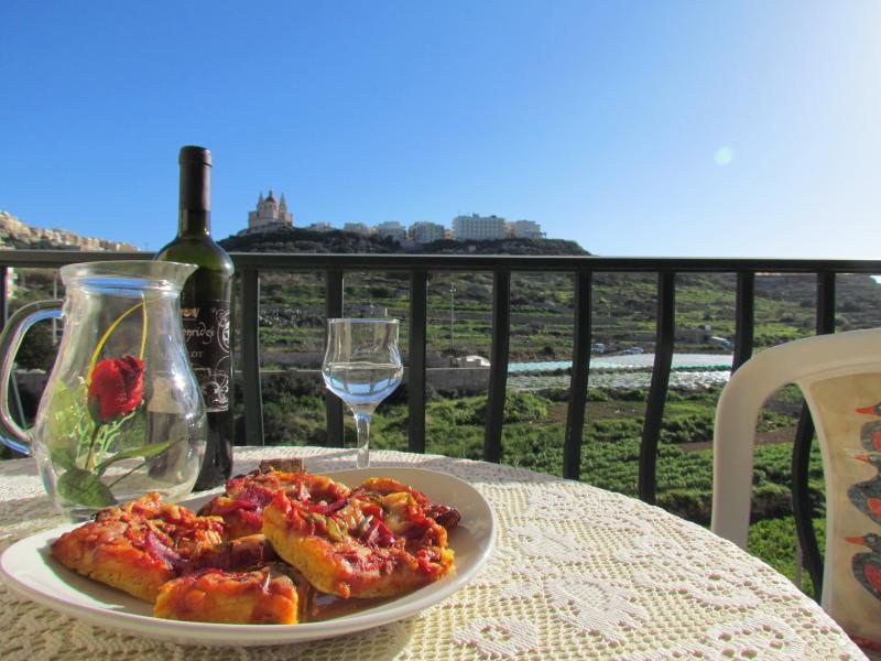 Terrace with views of Mellieha valley