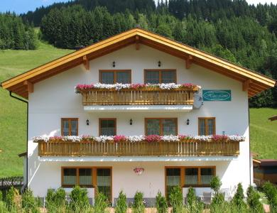Haus Lowe with its backdrop of the Filzmoos ski slopes
