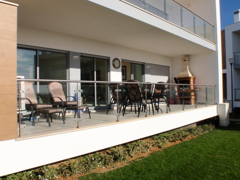 The view of the large balcony with your own barbaque